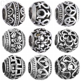 Wholesale MIX01 Silver Plated And Crystal Loose Beads charms Fit Pandora Charm European DIY Luxurious Women Jewelry Bracelet Necklace