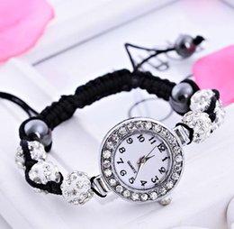Wholesale Hot new fashion Shamballa Bracelets braided rope adjustable bracelet diamond bracelet watch a735