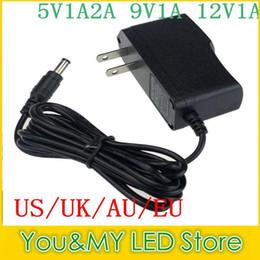 UK 12v plug 5v converter - 100Pcs 9V 1A 5V 2A 5V 1A 12V 1A Power Supply EU Plug   US Plug AC 100V-240V Converter Adapter Free shipping