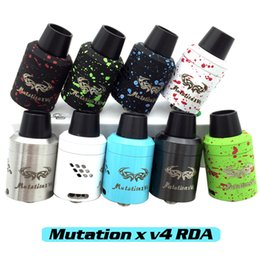 Wholesale Newest Original Mutation X V4 RDA Clone Rebuildable Atomizers Splatter With Wide Bore Drip Tips Colors In Stock Fit Box Mods DHL Free