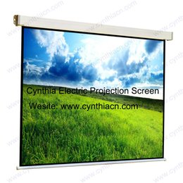 Wholesale High Quality And Factory Price HD Fabric D K Automatic Electric Projection Screens Fixed Motorized Projector Screen
