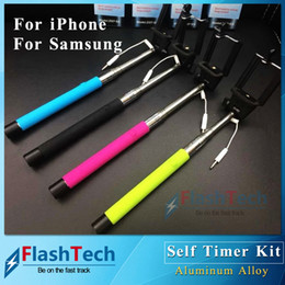 Extendable Handheld Professional Selfie Stick Monopod for IOS and Android Smartphones Z07-5S Cable take pole Selfie Remote Shutter