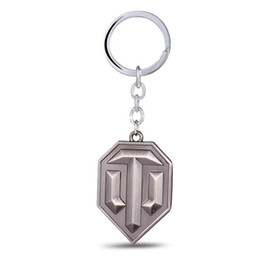 WOT Game Related Products World of Tanks Keychain Tanks flag Key Chain Cool Accessories Jewelry Wholesale Gift for Men Boyfriend