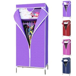 Wholesale Wholesales Hot Selling New Simple Portable Non woven Wardrobe With Hanging Rail Closet Home Furniture Storage JC0107 Salebags