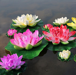 5pcs 28cm 11inches Artificial Lotus Flowers Water Lily For Garden Wedding Decoration diy flowers for decoration