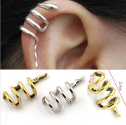 Wholesale Vintage Gothic Punk Snake Cartilage Ear Cuff Clip Wrap Earrings Jewellery