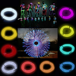 3M 9ft Flexible EL Wire Rope Neon Light Glow With Controller For Party Dance Car Decor