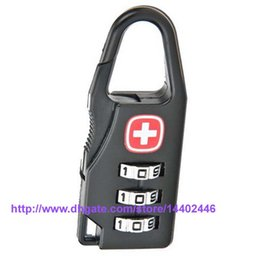 Wholesale 100pcs Bag Shaped Digits Padlock Travel Luggage Combination Suitcase Code Lock Case Resettable Combination Padlock Secret Safe Password