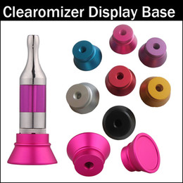 Wholesale Colorful Clearomizer Display Base Atomizer Stand Aluminum Holder for Thread Clearomizers aerotank mega mutation rda RBA tank