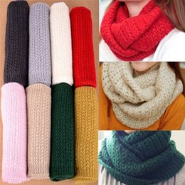 Wholesale Loss winter male scarf female pullover warm mohair knitted crochet scarf solid winter scarf SC0330