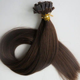 Pre Bonded Flat Tip Hair Extensions 100g 100Strands 18 20 22 24inch #4 Dark Brown Brazilian Indian Keratin Human Hair
