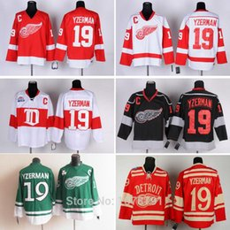Wholesale Top Quality #19 Steve Yzerman Detroit Red Wings Cheap Ice Hockey Jerseys All Stitched Embroidery Logos&Names C Patch