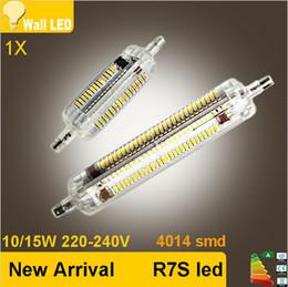 Newest R7S LED Lamp 10W 15W SMD4014 78mm 118mm LED R7S Light Bulb 220V Energy Saving Dimmable Replace Halogen Light Lampada Luz
