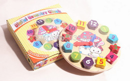 2017 reloj digital de la geometría Nuevos juguetes de madera del bebé de los bloques del reloj de la geometría de Digitaces reloj digital de la geometría en venta