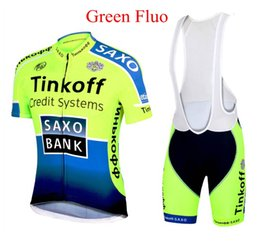 Wholesale 2014 cycling jersey Bike Suit pro cycling jersey Tinkoff saxo bank Fluo color cycling jersey short Bib Pants sierra nevada cycling jersey