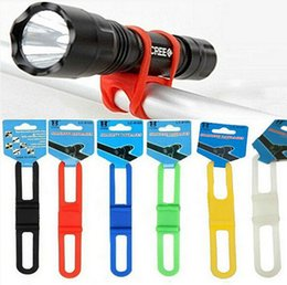 Silicone Bicycle Light Tie Strap Fashion Portable Phone Torch Flashlight Holder Cycling Bandages free shipping