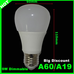 Wholesale Led Dimmable bulb high Brightness Lm W Led Bulbs White plastic Aluminum Light Angle cool white warm white AC110 V CRI Ra