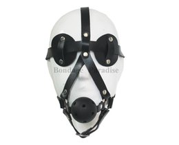 BDSM Bondage Harness Mask With Mouth Gag Sex products Free shipping