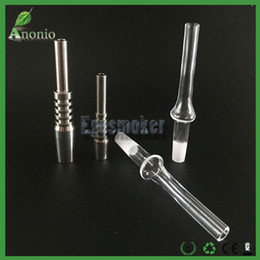 Wholesale Honey dab Straw Tip Nectar Collector Titanium Nails and Quartz Banger Nails mm mm mm Inverted Nail GR Titanium Tip Quartz Tip