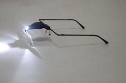 Wholesale Eyeglasses Camera Hands Free Adjustable Lens Glasses Magnifier with LED Light Loupe Glasses EGS_138