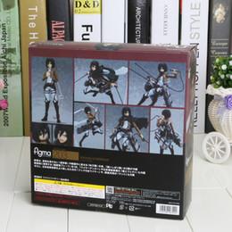 Wholesale Attack on Titan Approx cm Figma Mikasa Ackerman quot PVC Action Figure Model Toy