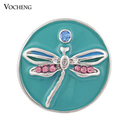 Wholesale Vocheng Noosa DIY Jewelry Accessory Fashion Red Dragonfly Chunk Snap Button Vn