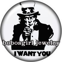 Wholesale Noosa chunk Popper I WANT YOU Snaps button jewelry for snap bracelet ODM OEM BG7590