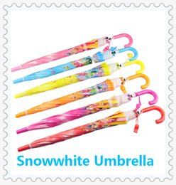 Wholesale Snowwhite Princess Umbrella Baby Fashion Umbrella Kids Color Parasol Children Holiday Gift