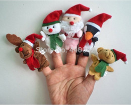 Wholesale Lovely Christmas finger Puppets toys Felt Boards Baby Hand Puppet toy baby Finger Toy