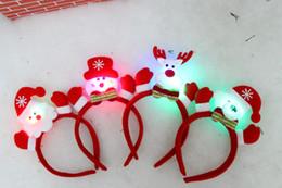 Wholesale 2015 nueva caliente del oído del conejito LED Head Band Cabello vestuario intermitente Conejito Pascua orejas del aro calientes para la fiesta de Navidad del muñeco de nieve Elk Santa Claus SD