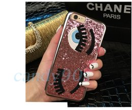 Wholesale 10pcs Case For iphone S plus Flirting Eyes Brilliant Miss Gossip Chiara Ferragni D Hard Cover Cases with package