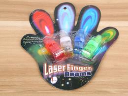 Promotion laser conduit doigts 500pcs / lot (= 125sets) Livraison gratuite Anneau LED Finger Laser Light Finger Flashlight faisceau Party For Avec pakcage détail