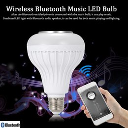 Wholesale TS D02 Wireless Bluetooth Speaker LED Bulb Design Audio Speaker W E27 RGBW Music Playing Lighting With IR Remote Control V1724
