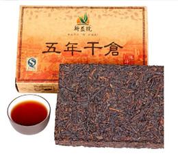 Wholesale 5 year RipePuer tea of aged leaves g cooked Shucha teaChinese Diet puerh pu er pu erh brick