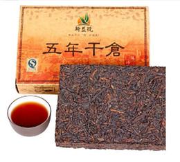 Wholesale 5 year RipePuer tea of aged leaves g cooked Shucha teaChinese Diet puerh pu er pu erh brick