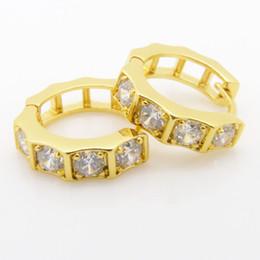women's crystal earrings Pure 24k yellow gold filled solid Nut shape cut hoop earrings jewelry 2.5 g