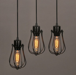 Vintage Light Bulb Retro Industrial Edison 1 Light Metal Shade Ceiling Pendant Lamp Fixture With bulb