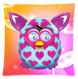 Wholesale Custom Cartoon Love Furby Fashion Style Cotton Zipper Linen Decorative Single Pillow Case Standard Size x45 cm Twin Sides