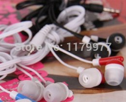 Wholesale Cheap Headphones For Pc - Wholesale-10 pcs lot Very cheap 6colors 3.5mm In-Ear Headphone Earbud Earphone for PC Mobile phone Laptop MP3 MP4