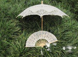 Wholesale 2015 Summer Lace Wedding Fans Bride Craft Lace New Deaigne Fans Handmade Lace Luxury Foral Wedding Dress Fan