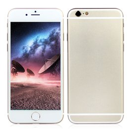 Wholesale New Touch ID Goophone i6s Plus V6 Bit Octa Core MTK6753 G LTE Fingerprint Scanner Android inch MP Camera Smartphone