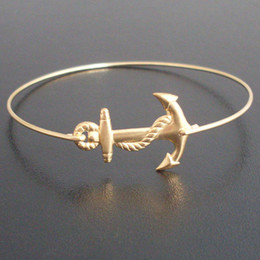 Europe and the United States Hot Sale jewelry free shipping Gold And Silver Charm Sailor Anchor Bracelet YPQ0084