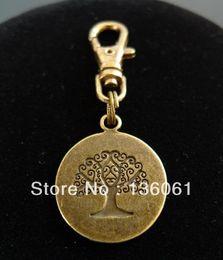 Vintage Bronze ROUND TREE OF LIFE 3D Lobster Swivel Clasp Key Ring For Keys Car Bag Key Ring Handbag Couple Key Chains Gifts