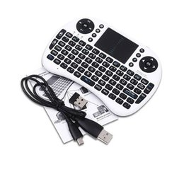 Wholesale Rii i8 Remote Fly Air Mouse mini Keyboard Wireless G Touchpad Keypad For MXQ MXIII MX3 M8 CS918 M8S Bluetooth TV BOX Black