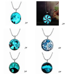 Wholesale The new Christmas presents new strange glow necklace alloy resin system Fashion trendy The best gift is the family and friends