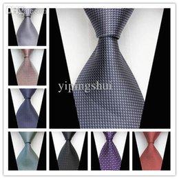 Venta al por mayor corbata roja en venta-La raya geométrica roja púrpura negra gris del punto de la venta al por mayor-CON55 de la nueva corbata tejida de seda clásica del negocio del cuello del negocio hace punto las corbatas 2015