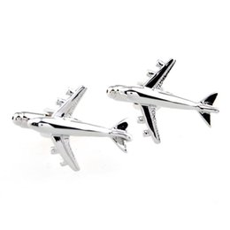 FC fine jewelry goodWets metal airplane aviation aircraft modeling cufflinks French shirt cufflinks for men cufflinks French