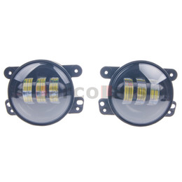 Pair 4 inch Round CREE 30W Front LED Fog Lights Driving Offroad Lamps