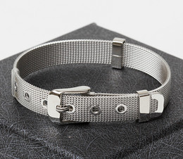Wholesale 8mm and mm width Men and woman stainless steel bracelet wristband Unisex none rust high quality