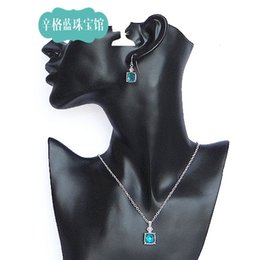 Wholesale Singh blue jewelry shop NRT marking High quality export original single bracelet necklace earrings three piece